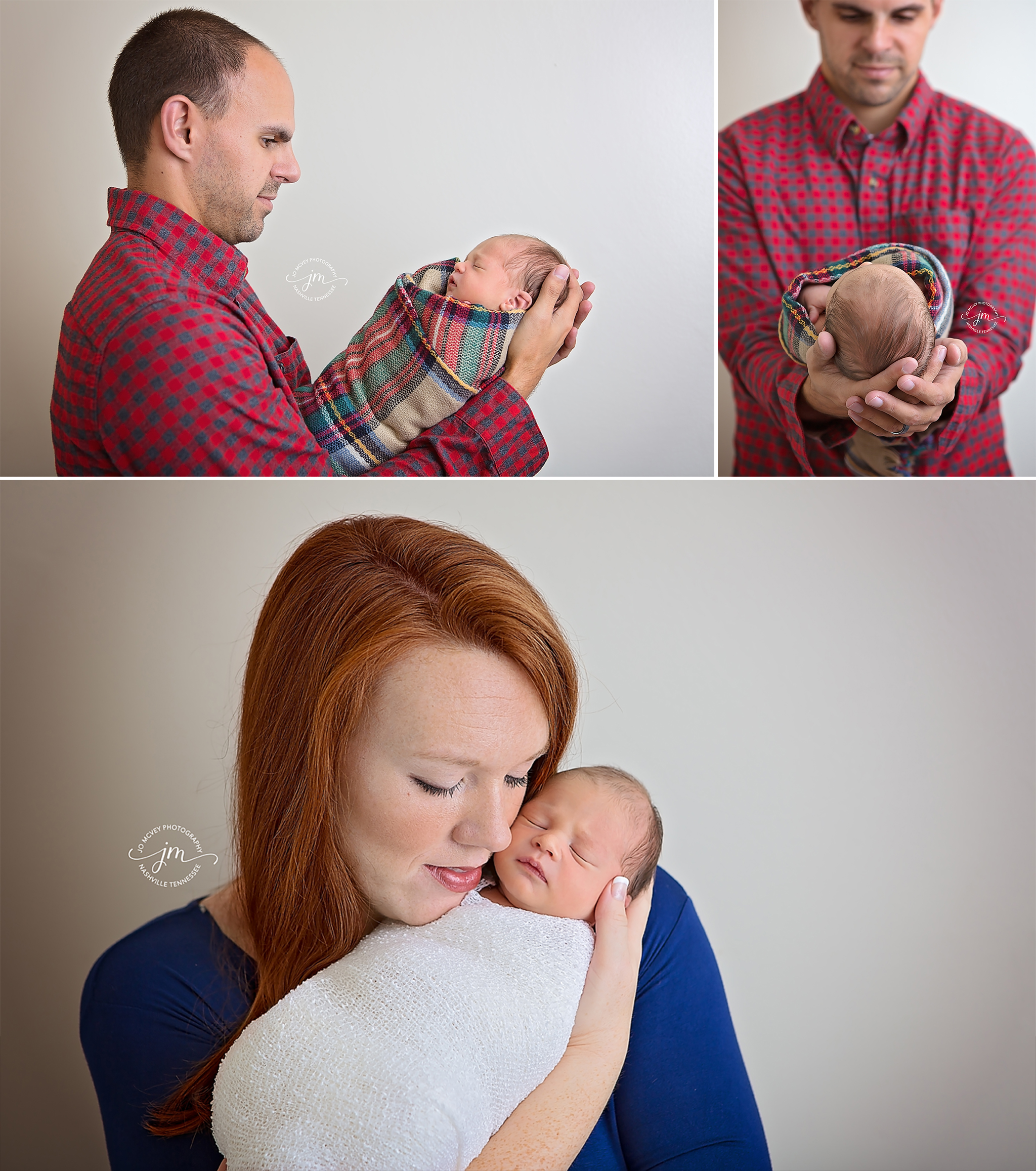Newborn boy with parents - Gallatin Family Photographer