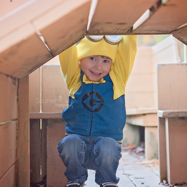 A Minion and a Train Conductor  {Hendersonville, TN Child Photographer}