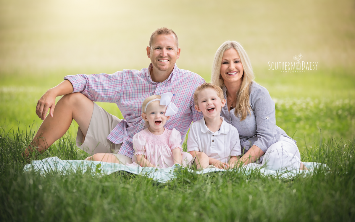 Happy Family of 4 {Nashville Family Photographer}