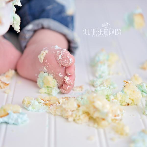 Cooper's Cake Smash {Hendersonville, TN Baby Photographer}