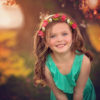 Little girl smiling in front of tree with back lighting - Tennessee Fine Art Photographer