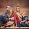 Family of 4 in fall setting - Tennessee Fine Art Family Portraits