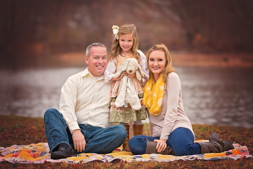 Family of 3 with daughter - Gallatin Family Photographer