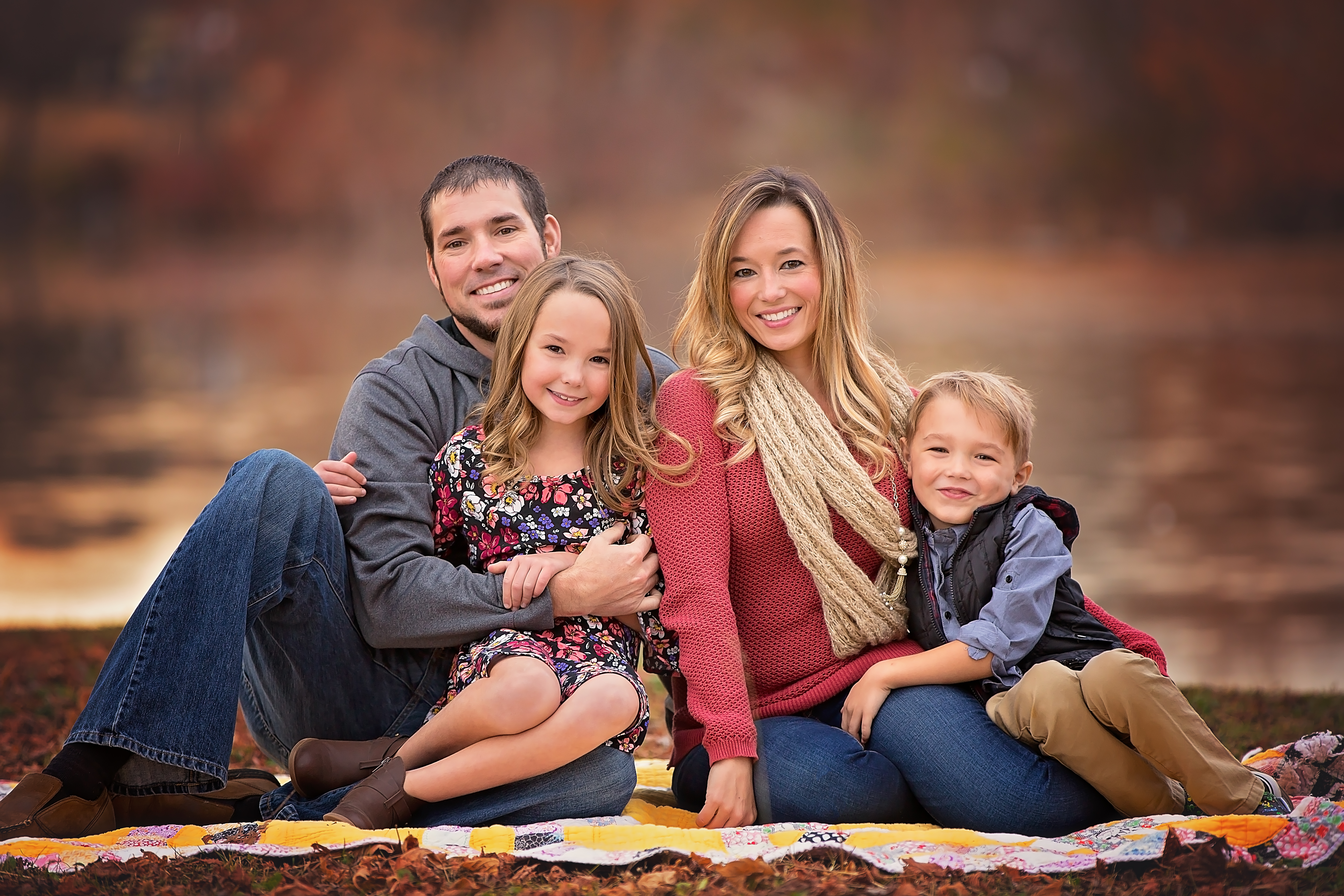 Rich and colorful family after photo