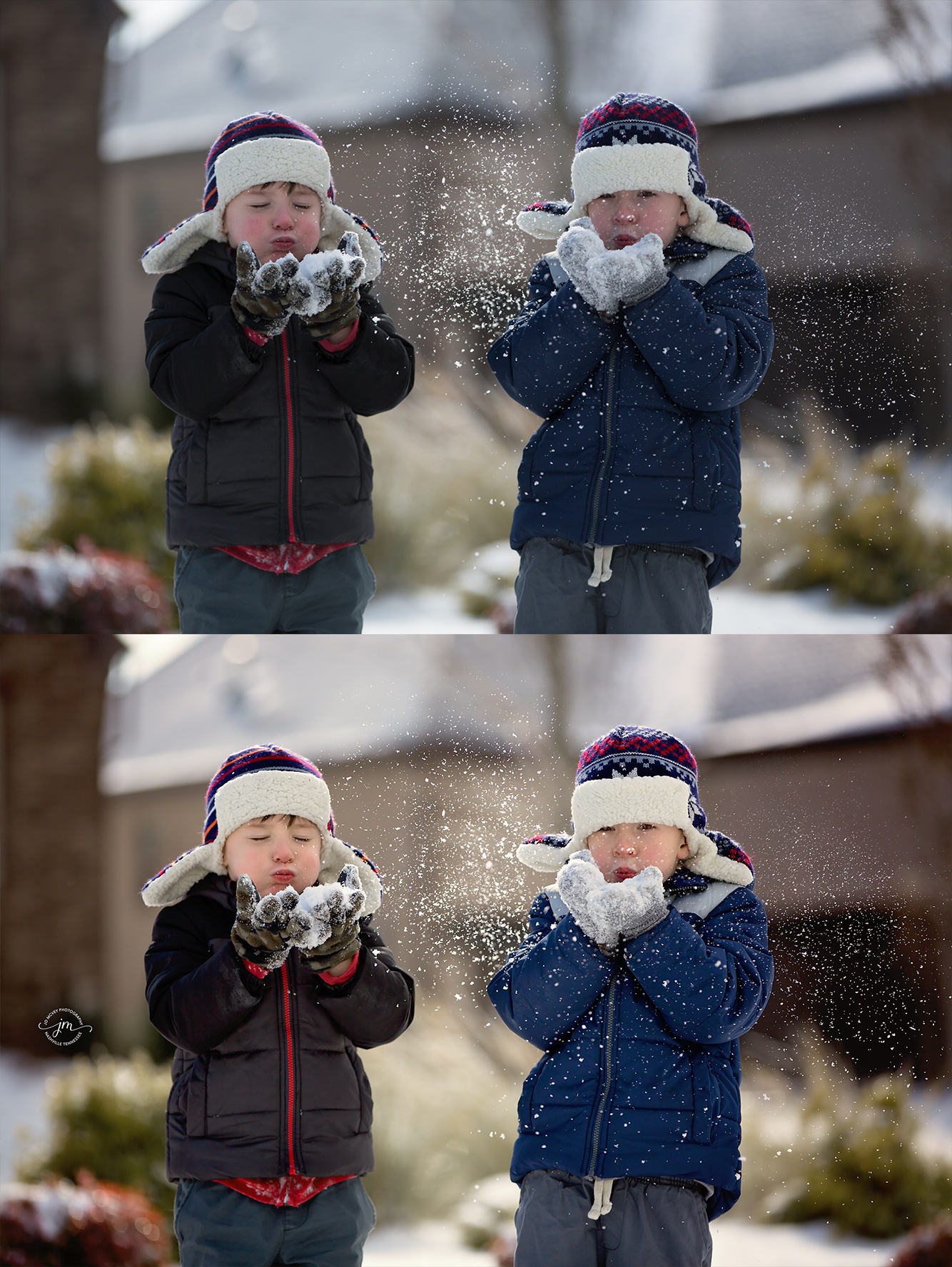 snow lifestyle before and after - Jo McVey Photography