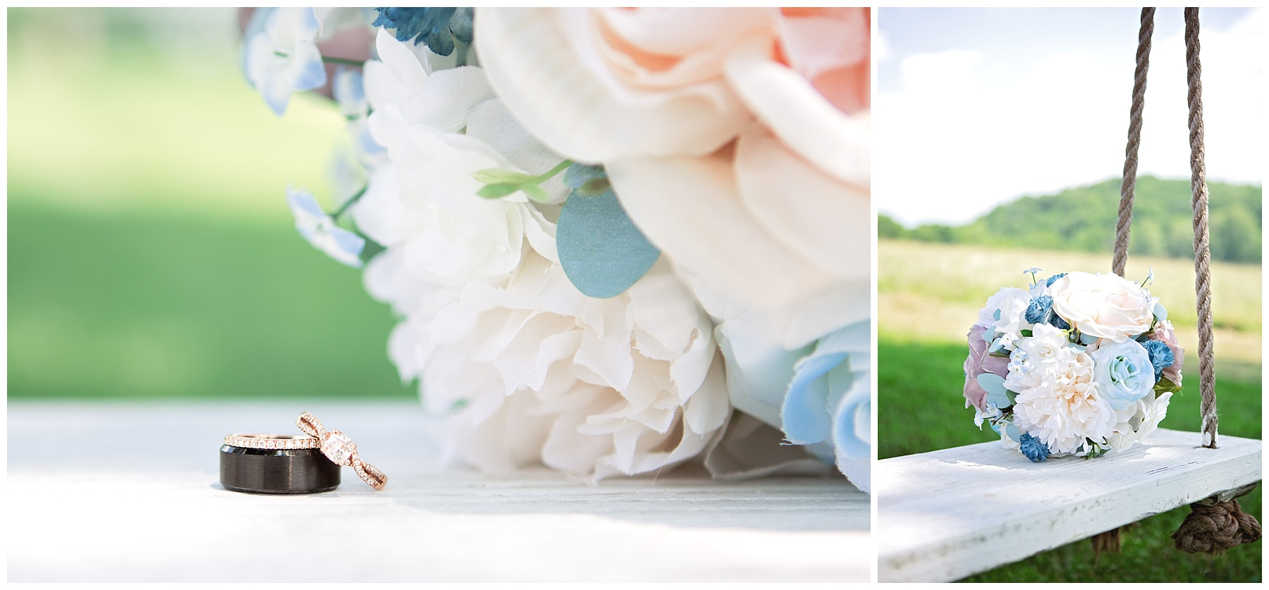 Gallatin Wedding Details - Rock Creek Farm - Bouquet and Rings