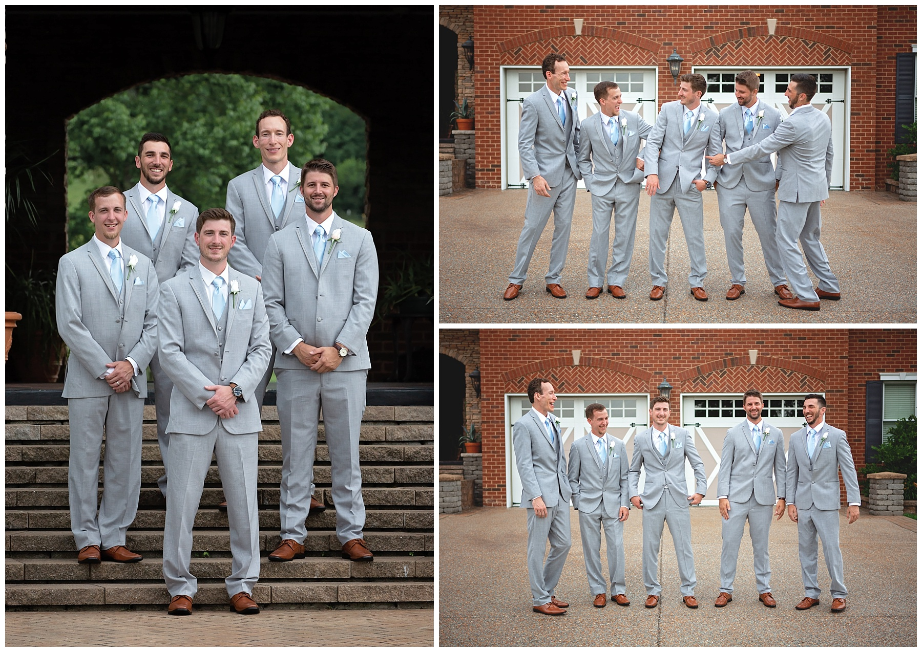 Groomsmen at Rock Creek Farm - Gallatin Wedding