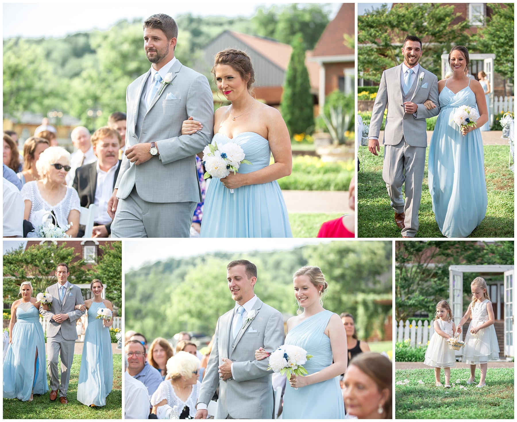 Wedding ceremony at Rock Creek Farm in Gallatin Tn - Nashville Photographer