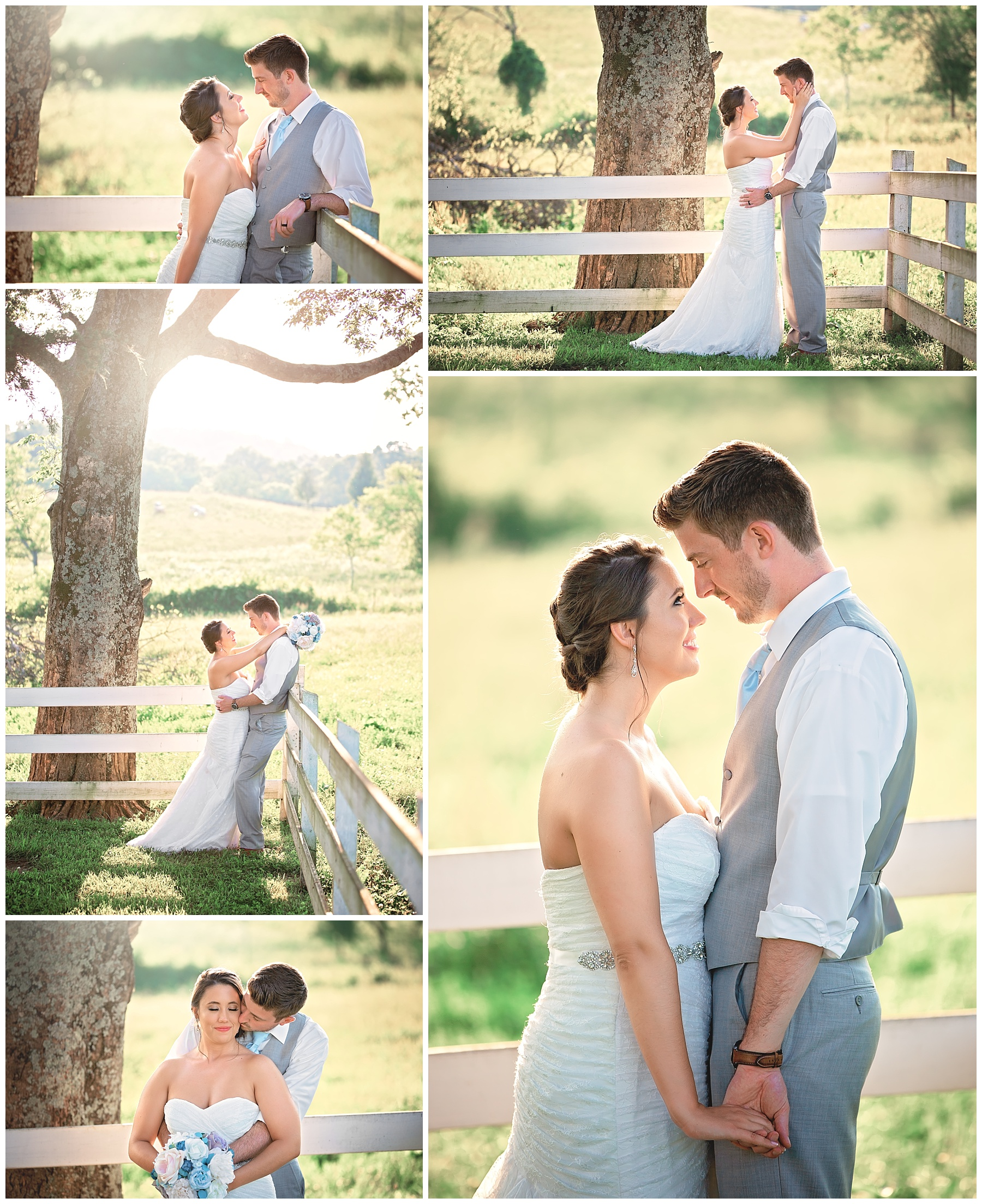 Bride and Groom - Rock Creek Farms - Nashville Wedding Photographer