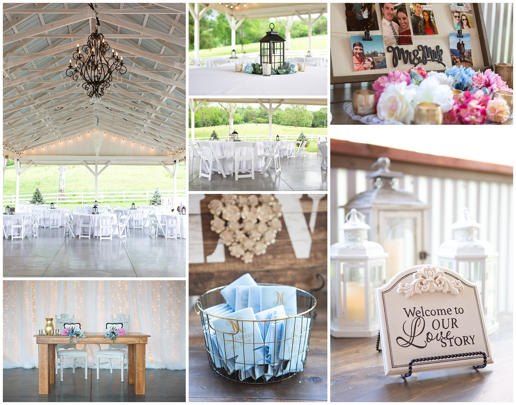Wedding Reception details - Rock Creek Farms - Gallatin