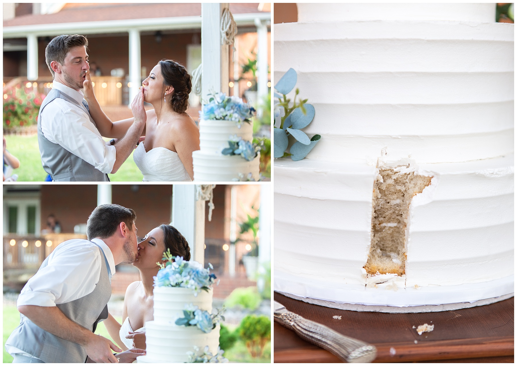 Cutting the cake - Rock Creek Farms - Gallatin Wedding