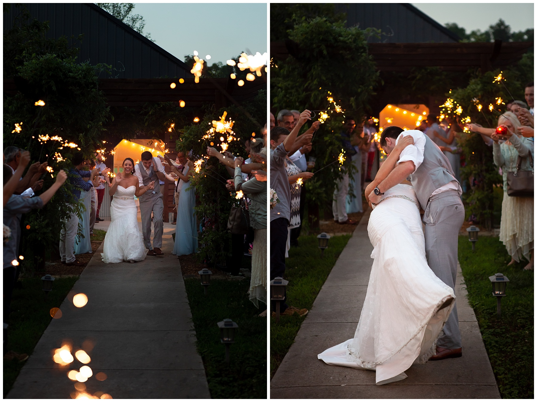 Sparkler Send Off - Gallatin Wedding - Rock Creek Farms