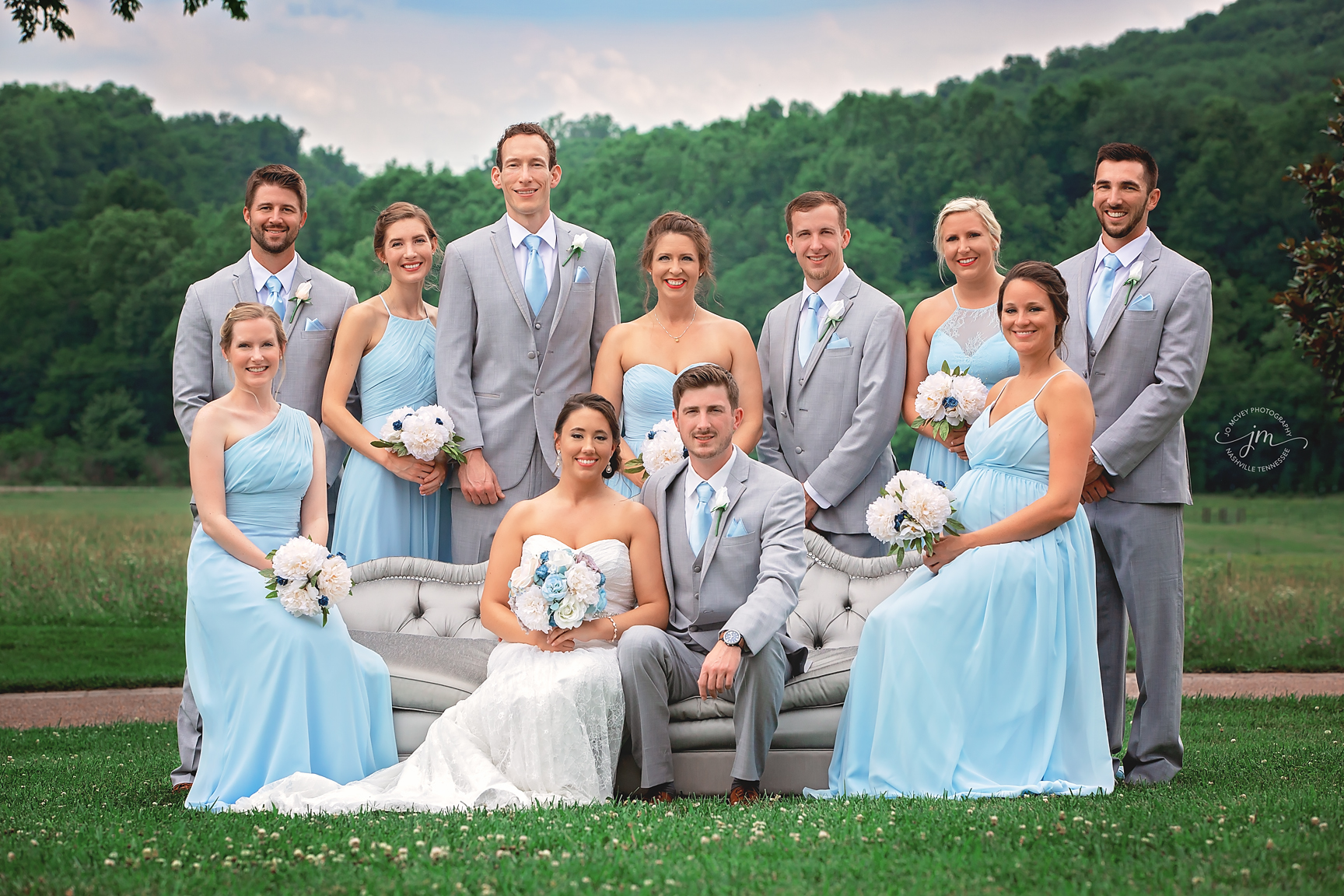 Bridal Party at Rock Creek Farms in Gallatin, TN - Nashville Wedding Photographer