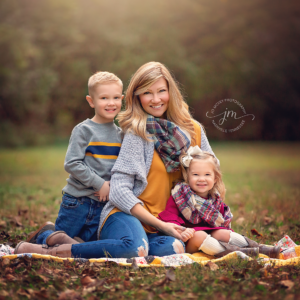 Fall Mom and Kids