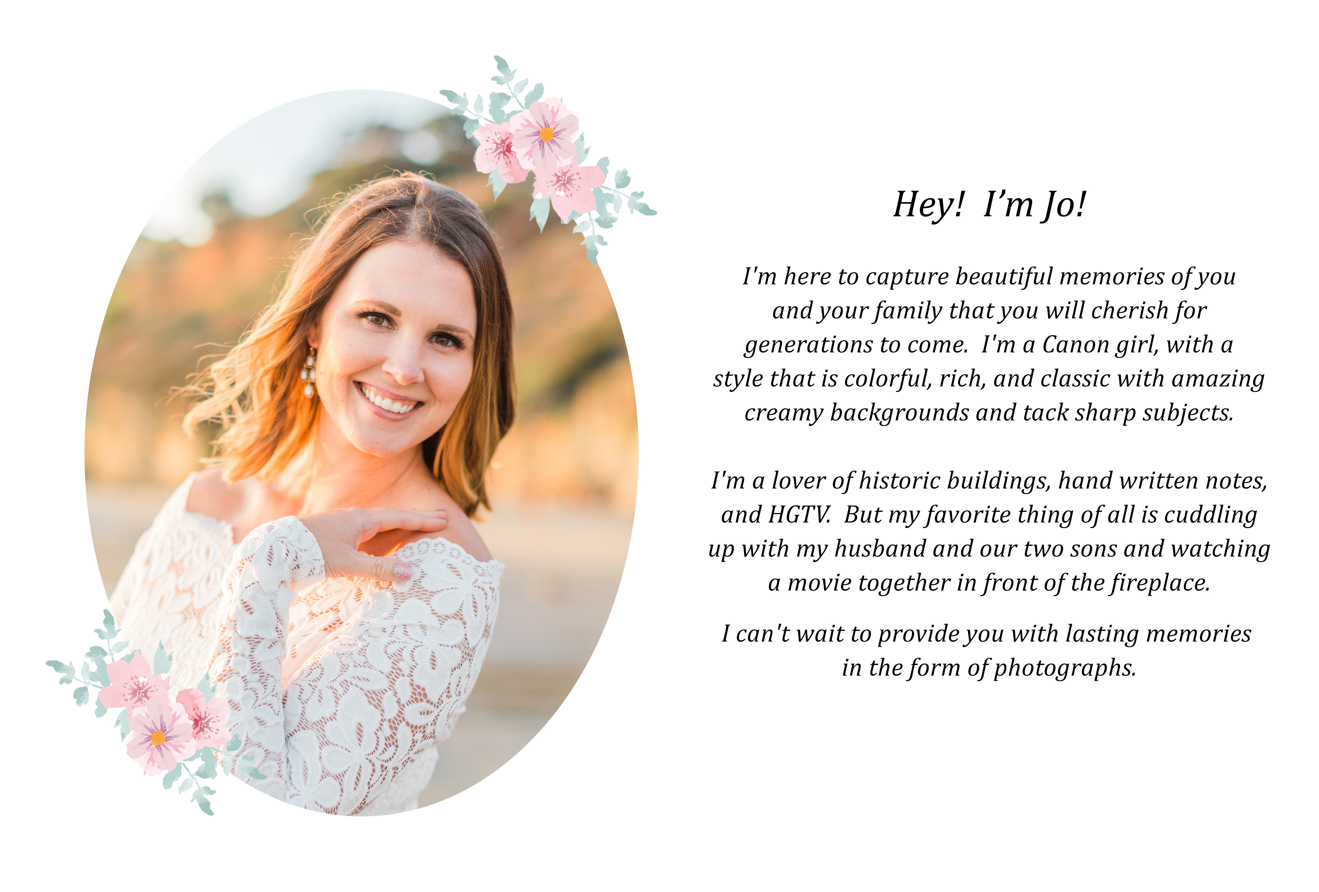 About Me - Jo McVey Photography